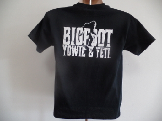 bigfoot yowie yeti back logo teeshirt